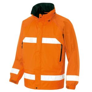 アイトス 全天候型リフレクタージャケット(男女兼用) カラー:オレンジ サイズ:5L (ディアプレックスレインJK) [56303ー063]【4548413406102:11057】