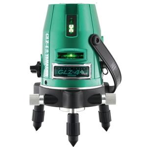くっきり見やすいグリーンレーザー YAMASHIN グリーンレーザー墨出し器 本体+受光器 GLZ-4+J 【4534587547123:12903】