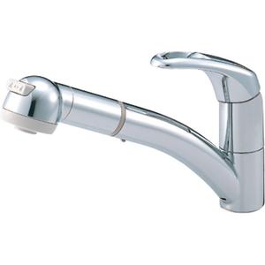 三栄水栓 シングルワンホールスプレー混合栓(寒冷地用) K8760JK-C-13【4973987600272:13750】