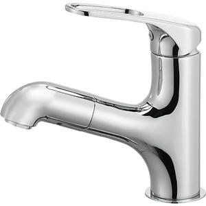 三栄水栓 シングルワンホール洗面混合栓 K4713JV-U-13【4973987609794:13750】