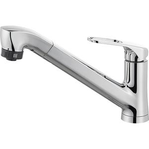 三栄水栓 シングルワンホールスプレー混合栓(寒冷地用) K87120JK-U-13【4973987609909:13750】