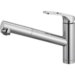 三栄水栓 シングルワンホールスプレー混合栓(寒冷地用) K87501JK-U-13【4973987609923:13750】