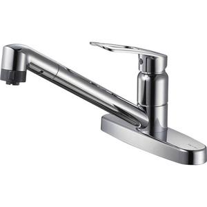 三栄水栓 シングル台付切替シャワー混合栓 K6711MEV-13【4973987610707:13750】