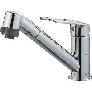 三栄水栓 シングルワンホール切替シャワー混合栓(寒冷地用) K8711MEJK-S-13【4973987610806:13750】
