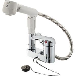 シンプルで使いやすい 三栄水栓 シングルスプレー混合栓 格安 本日限定 価格でご提供いたします 寒冷地用 4973987611230:13750 K37100KR-13