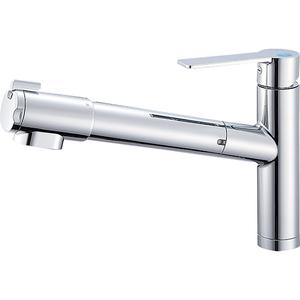 三栄水栓 シングル浄水器付ワンホールスプレー混合栓 K87580E1JV-13【4973987611384:13750】