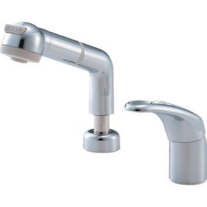 三栄水栓 シングルスプレー混合栓(寒冷地用) K3761JK-C-13【4973987615801:13750】