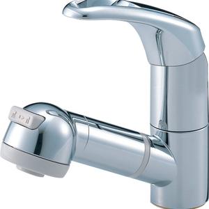 三栄水栓 シングルスプレー混合栓(寒冷地用) K3763JK-C-13【4973987615825:13750】
