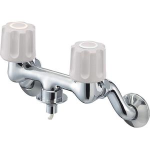 三栄水栓 ツーバルブ洗濯機用混合栓(寒冷地用) K1101TVK-1-LH-13【4973987621123:13750】