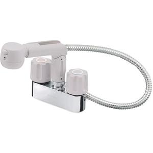 三栄水栓 ツーバルブスプレー混合栓 K31V-LH-13【4973987621277:13750】