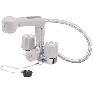 三栄水栓 ツーバルブスプレー混合栓 K3104VR-LH-13【4973987621338:13750】