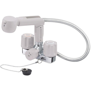 三栄水栓 ツーバルブスプレー混合栓(寒冷地用) K3104KR-LH-13【4973987621345:13750】