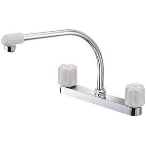 三栄水栓 ツーバルブ台付混合栓(寒冷地用) K61DK-LH-13【4973987621420:13750】