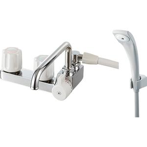 三栄水栓 ツーバルブデッキシャワー混合栓 SK71041R-LH-13【4973987660276:13750】
