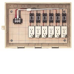 未来工業 屋外電力用仮設ボックス 漏電しゃ断器・分岐ブレーカ・コンセント内蔵 ELB組込品 15-6CTB 15-6CTB【4589582120840:14430】