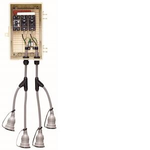 未来工業 屋外電力用仮設ボックス 漏電しゃ断器・分岐ブレーカ・コンセント内蔵 15mA 1個価格 2A-2BWT 2A-2BWT【4589582120970:14430】