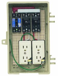 未来工業 屋外電力用仮設ボックス 漏電しゃ断器・分岐ブレーカ・コンセント内蔵 ELB組込品 2A-2C 2A-2C【4589582120987:14430】