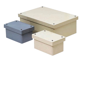 未来工業 防水プールボックス カブセ蓋 長方形 400×250×250 ベージュ PVP-402525BJ PVP-402525BJ【4589582165254:14430】