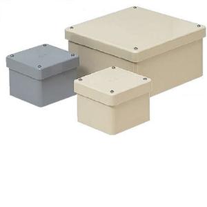未来工業 防水プールボックス カブセ蓋 正方形 ノックなし 400×400×400 グレー PVP-4040B PVP-4040B【4589582165544:14430】