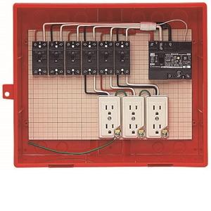 未来工業 屋外電力用仮設ボックス 漏電しゃ断器・分岐ブレーカ・コンセント内蔵 ELB組込品 RB-14AO RB-14AO【4589582167036:14430】