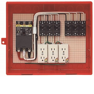 未来工業 屋外電力用仮設ボックス 漏電しゃ断器・分岐ブレーカ・コンセント内蔵 ELB組込品 RB-14AO4 RB-14AO4【4589582167043:14430】