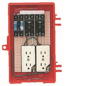 未来工業 屋外電力用仮設ボックス 漏電しゃ断器・分岐ブレーカ・コンセント内蔵 ELB組込品 RB-2AT RB-2AT【4589582167098:14430】