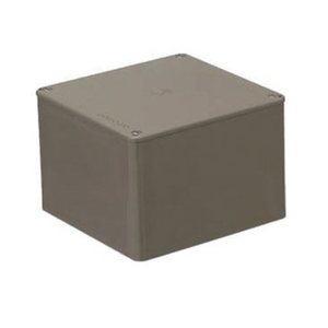 未来工業 正方形プールボックス ノック無 400×400×200mm チョコレート 1個価格 PVP-4020T PVP4020T【4589905710468:14430】