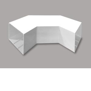 マサル工業 平面大マガリ 6号150型 ホワイト MDLM6152【4528944147019:14430】