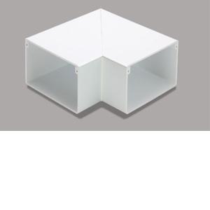 マサル工業 平面マガリ 8号150型 ホワイト MDM8152【4528944105637:14430】