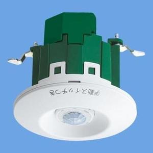 パナソニック トイレ天井取付熱線センサ付自動スイッチ(ホワイト) WTK2614K【4549077453792:14430】