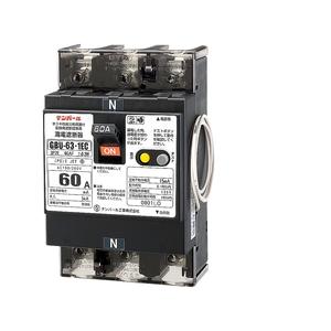 テンパール工業 単3中性線欠相保護付漏電遮断器 OC付 U6301EC6015V【4950870127825:14430】