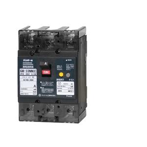 テンパール工業 Kシリーズ 分電盤協約形サイズ 漏電遮断器OC付10A(2.2kW)-30mA 補助スイッチ付 33MKC10030A【4950870130979:14430】
