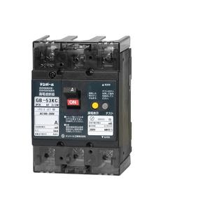 テンパール工業 Kシリーズ 分電盤協約形サイズ 漏電遮断器OC付15A-30mA 補助スイッチ付 53KC1530A【4950870132225:14430】
