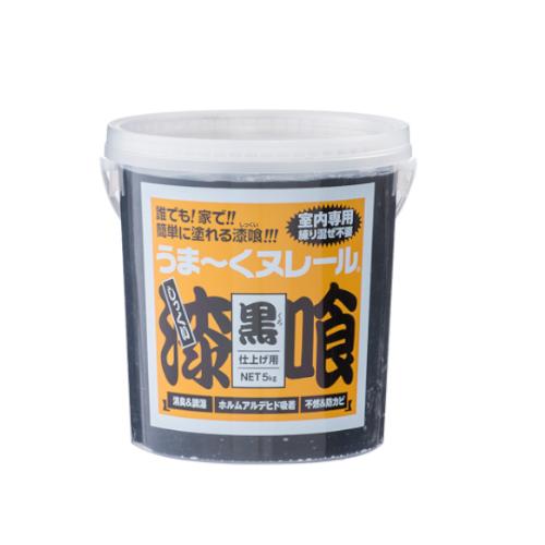 補修 補修資材 屋内壁補修 DIY しっくい 購買 正規取扱店 日本プラスター 5kg うまくぬれーる 漆喰 うまーくヌレール 黒