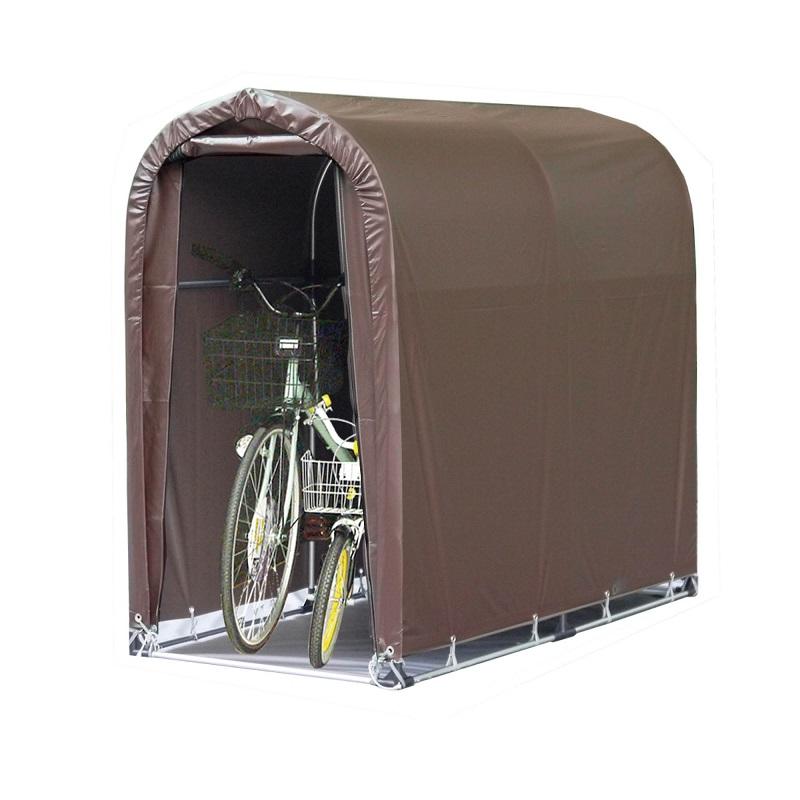アウトレット 税込 屋外収納 一般収納 パイプ車庫 自転車収納 NAN-A 南栄 2台用 ターポリン 2台用-SB型 高耐久 ブラウン サイクルハウス