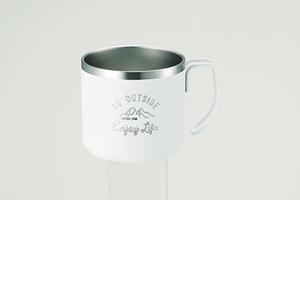 アウトドア 野外調理 食器類 モンテWステンレスマグカップ350WH プレゼント パール金属 定番キャンバス UE-3430