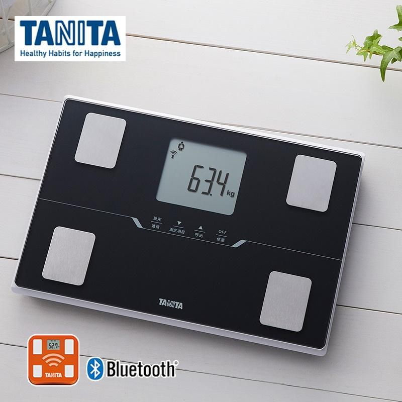 スマートフォン通信対応エントリーモデル タニタ 体重計 体組成計 スマホ連動 BC-768-BK 数量は多 初回限定 メタリックブラック 黒 コンパクト 体重 bluetooth TANITA アプリ 健康管理 見やすい 対応 薄型 体脂肪計