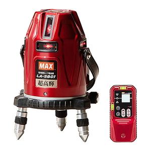 MAX レーザー墨出器セット LA-S801Dセット [大工道具 測定具 ] 【4902870804930:16480】