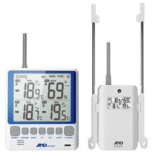 A&D ワイヤレス温湿度計 AD-5663 [大工道具 測定具 クレセル・MT・温度計] 【4981046449403:16480】