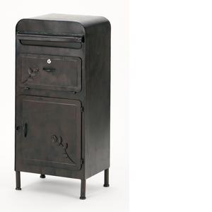 □TKD rust colorガーデンポスト 収納ボックス付 PL08-36357【4545244514860:2780】