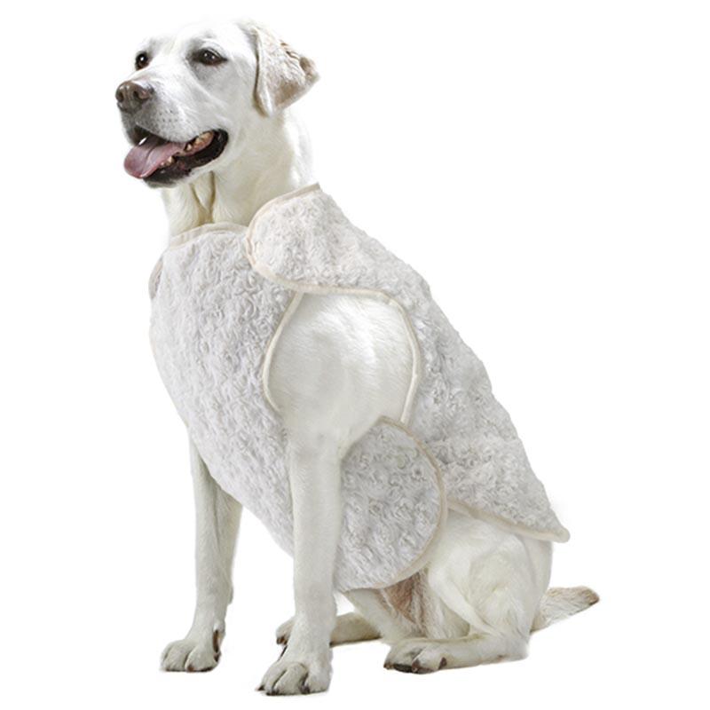 店内全品対象 蓄熱仕様で暖かさアップ スナップボタンで留めるだけなので着せやすい マルカン 犬 冬 温活 防寒 リバーシブル 専門店 L 蓄熱 着る毛布