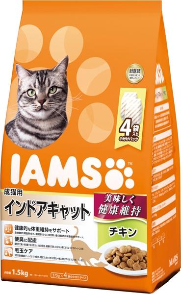 猫フード プレミアム猫フード マースジャパン アイムス 1.5kg 割引 成猫用 サービス チキン インドアキャット