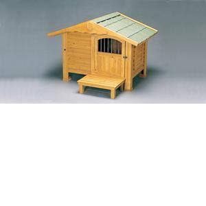 アイリスオーヤマ ロッジ犬舎 ブラウン RK-1100【4905009144396:1309】
