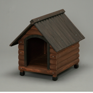 アイリスオーヤマ ログ犬舎 ダークブラウン LGK-750【4905009730520:1309】