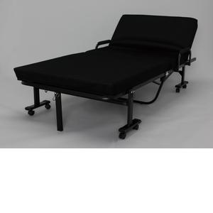 アイリスオーヤマ 折りたたみベッド ブラック OTB-KRH【4905009989430:1309】