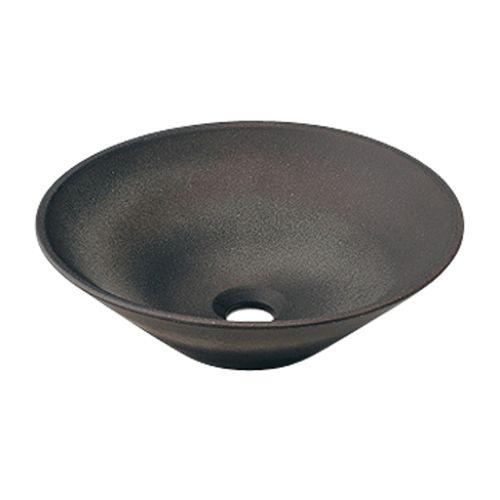 カクダイ 丸型手洗器(古窯) 493-037-DG【4972353013715:16480】