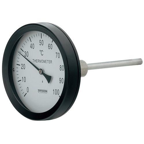 カクダイ バイメタル製温度計 アングル 649-909-50B