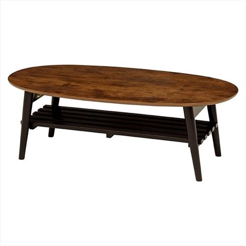 萩原 折れ脚テーブル MT-6922AB 幅100×奥行50×高さ33.5cm 【4934257259231:15950】