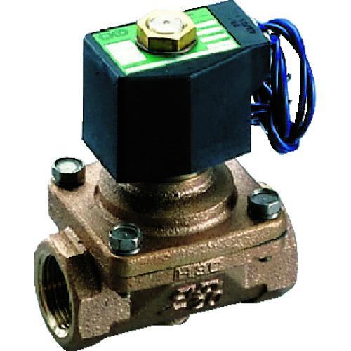 ■CKD パイロットキック式2ポート電磁弁(マルチレックスバルブ)100[[MM2]]/有効断面積 ADK11-15A-02C-AC100V 【1103792:0】