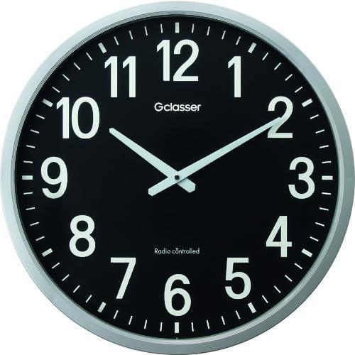 ■キングジム 電波掛時計 ザラージ黒文字盤 GDK-001K (株)キングジム【1140992:0】